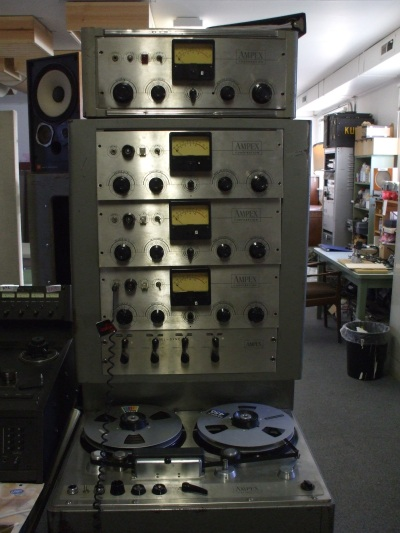 Bob Schwenkler, one of the artists on my bill at The Northern, just happens to be the main engineer at Dub Narcotic. This is an Ampex 300 tube reel to reel. From the 50's he thinks!