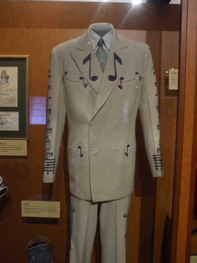 "One of Hank Williams suits. I also took a photo of his star on the Nashville Walk of Fame, and just as I was framing a shot some voice with a deep south drawl said ""yer gunna wanna be takin' yer hat off before ya take that photo."""